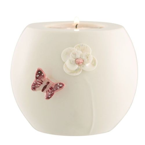 Belleek Living Blush butterfly Votive